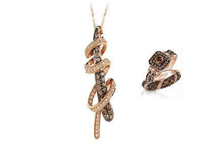 8a0797ec4 Le Vian developed Strawberry Gold®, a proprietary softer tone pink gold to  better complement Chocolate Diamonds®. Chocolate Solitaires, the first  Gladiator® ...
